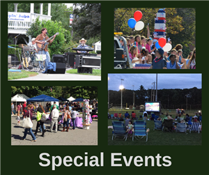 Link for special events sponsored by the Billerica Recreation Department